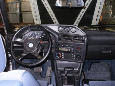 Hartge interior with extra gauges